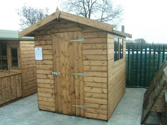 Garden Sheds 8x6 8' x 6' apex garden shed - smiths sectional buildings
