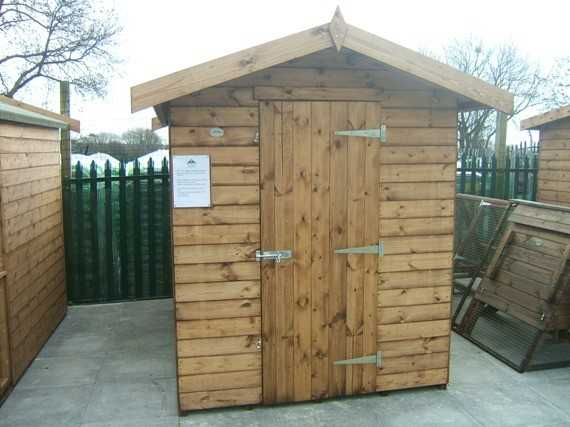 X Apex Garden Shed Smiths Sectional Buildings