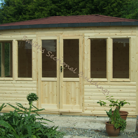 12' x 10' Hipped Roof Summerhouse