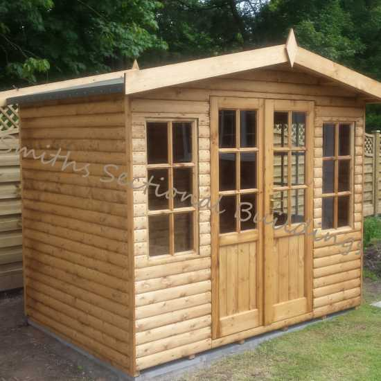 8' x 6' Loglap Summerhouse