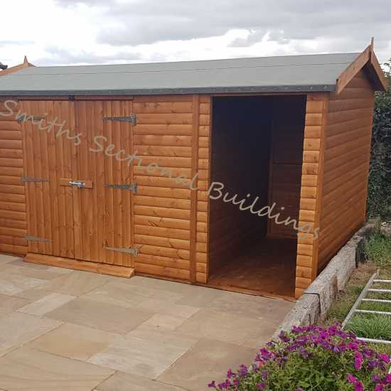 14' x 8' Shed and Log Store