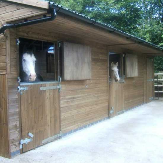 Double 12' x 12' Horse Stable