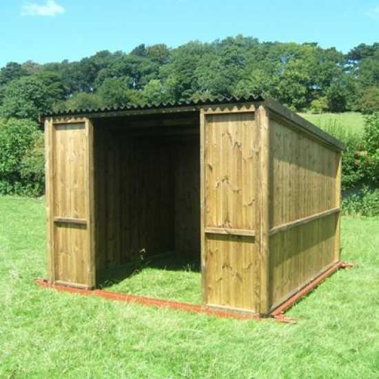 10 x 10 Pony & Livestock Shelter