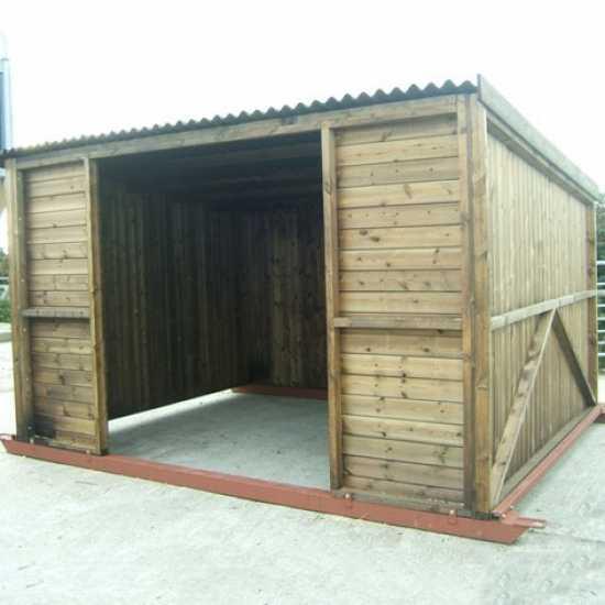 10 x 12 Pony & Livestock Shelter