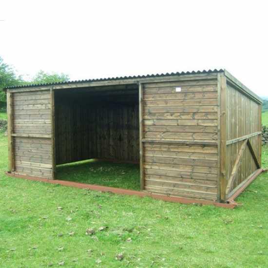 10 x 18 Pony & Livestock Shelter