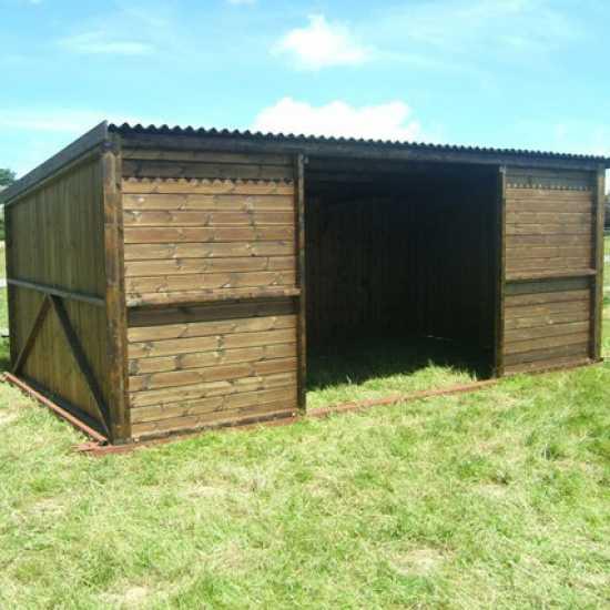 12 x 18 Pony & Livestock Shelter