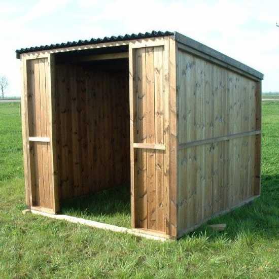 8 x 8 Pony & Livestock Shelter