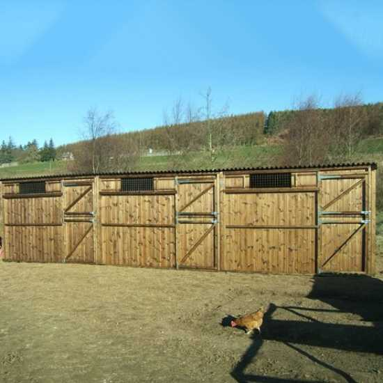 Treble 10' x 10' Pony Stables (30' x 10')