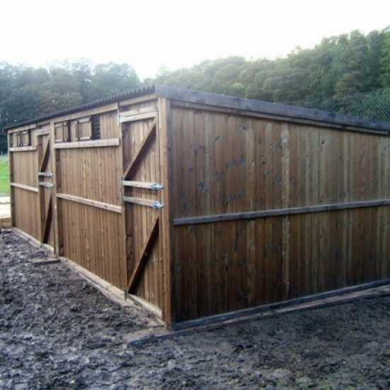 Double 12' x 12' Pony Stables (24' x 12')