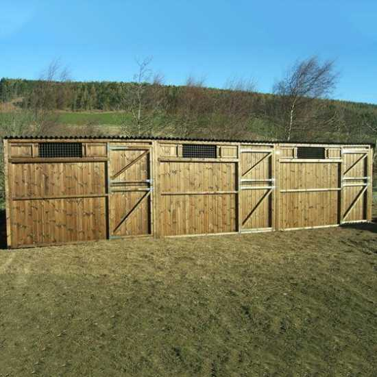 Treble 12' x 12' Pony Stables (36' x 12')