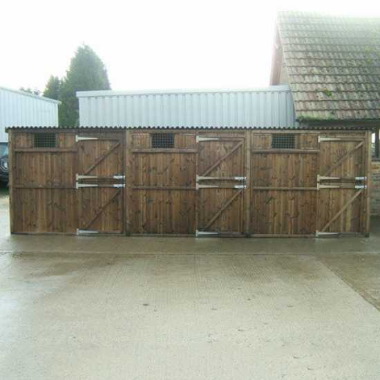 Treble 8' x 8' Pony Stables (24' x 8')